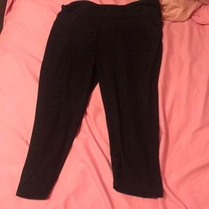 Champion Other - CROPPED BLACK LEGGINGS